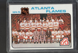 1974 75 Topps Hockey Card#85 Atlanta Flames Team Checklist Cl EAN  Ex++Nm  - $2.60