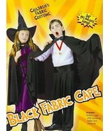 "CHILD'S BLACK 36"" CAPE WITH COLLAR DARTH VAMPIRE WITCH - $11.00"