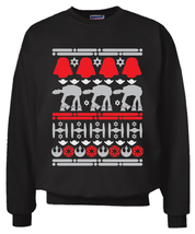 Star Wars Christmas Sweater Sweatshirt Black Size S - 2XL Ugly Sweater P... - $29.99+