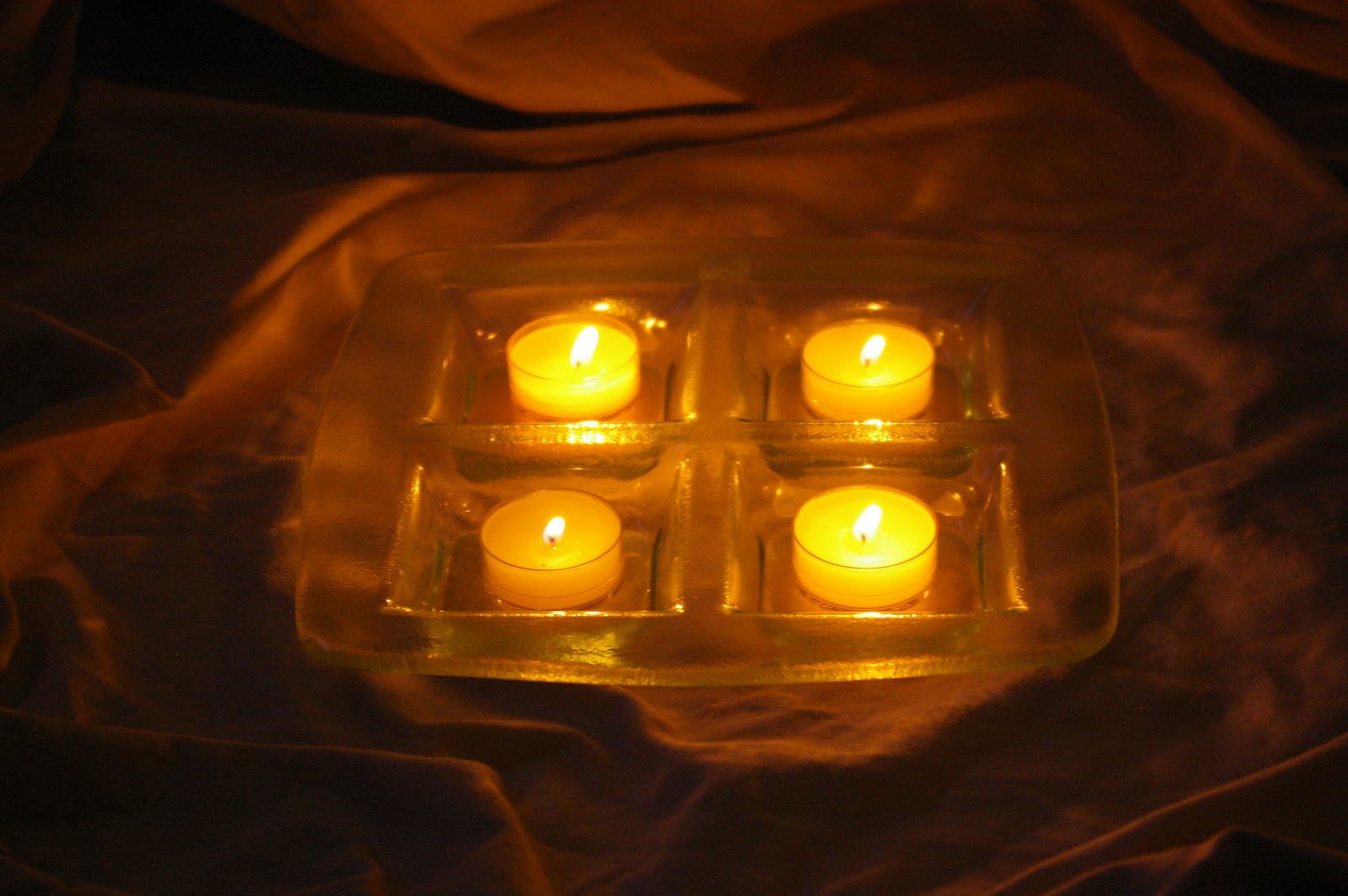 PARTYLITE Stratus Candle Tray Base Party Light