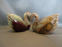 Onyx Polished Carved Swan Figures  - $16.99