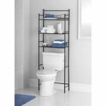 Towel Rack Bathroom Storage Shelf Over Toilet Wall 3 Shelves Bath Space ... - $34.97