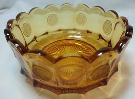 Vintage Amber Glass Bowl / Dish Fostoria Libert... - $25.50