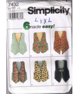 Simplicity 7432 Misses' Vest - 6 Made Easy - Si... - $5.00