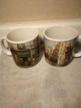 (2)  ONEIDA  ART OF DINING  COFFEE MUGS / CUPS  RESTAURANT ROW----FREE S... - $20.87