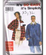Simplicity 7441 Misses, Men's or Teens Jacket -... - $6.00