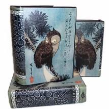 Brown Owl on a Pine Branch by Utagawa Hiroshige Wood & Leather Book Box - $17.81
