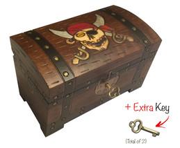 Pirate Chest Box Polish Handmade Wood Keepsake Jewelry Box - €31,27 EUR