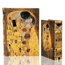 THE KISS (Lovers) by Gustav Klimt Book Box Set of 2 Secret Jewelry Box G... - €35,16 EUR