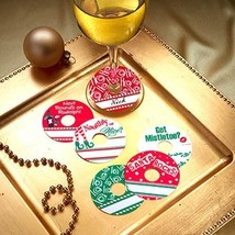 Christmas Party Personalized Wine Glass Tags  Set of 24 - $7.99+