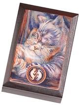 BERGSMA LEAN ON ME Box Polish Handmade Wood Jewelry Box Happy Cats Keep... - €25,65 EUR