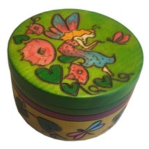 Fairy Box Polish Handmade Round Wood Keepsake Jewelry Box Tooth Fairy Box - €21,75 EUR