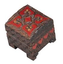 HEART BOX Polish Linden Wood Handmade Jewelry Ring Box Engagement Love K... - $19.79