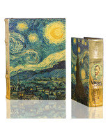Starry Night by Vincent Van Gogh Book Box Set Leather over Wood Secret S... - $48.99