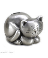 Kitty Money Cat Piggy Bank, Non Tarnish Pewter Finish - $22.76