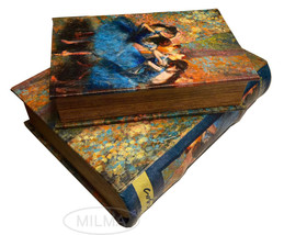 Edgar Degas Blue Dancers Book Box Set Hidden Storage  Secret Book Boxes - $39.99
