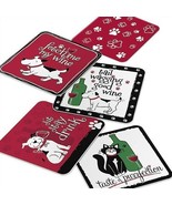 PET PARTY Collection: PET DOG CAT With WINE Coasters Gift Set of 25 - $12.86