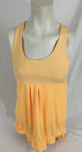 Old Navy Active Orange Peach Tank Top with Built in Bra Women's Small - $14.99