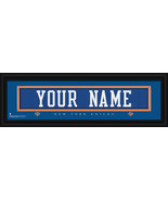Personalized New York Knicks Stitched Jersey 8 x 24 Framed Print - $39.95