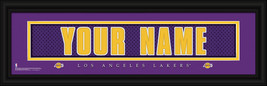 Personalized Los Angeles Lakers Stitched Jersey 8 x 24 Framed Print - $39.95