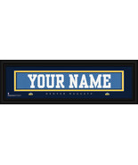 Personalized Denver Nuggets Stitched Jersey 8 x 24 Framed Print - $39.95