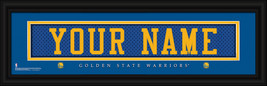 Personalized Golden State Warriors Stitched Jersey 8 x 24 Framed Print - $39.95