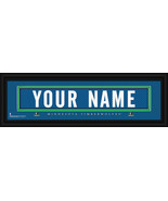 Personalized Minnesota Timberwolves Stitched Jersey 8 x 24 Framed Print - $39.95