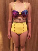 Galaxy, Yellow Highwaisted Bikini Swimsuit Summer - $38.00