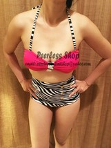 Pink, Zebra Retro Sexy Highwaisted Vintage Bikini Swimsuit Summer - USA ... - $38.00