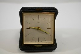 Emes Folding Travel Alarm Clock Pocket Timepiece Germany Vtg - $19.34