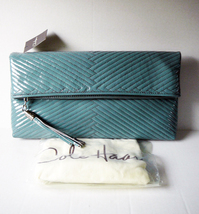 Cole Haan Laury Mermaid Large Foldover Quilted Patent Leather Clutch - NWT - $134.07 CAD
