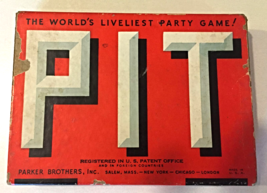 VINTAGE PIT CARD GAME BULL AND BEAR EDITION - 1930's - $6.00