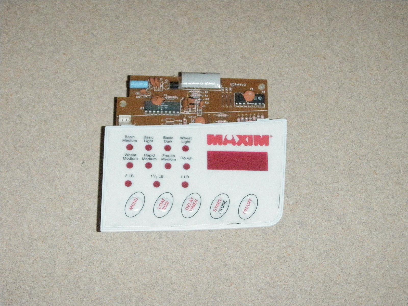 Maxim Bread Machine Bread Maker Control Panel Model BM500 - $37.39