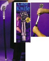 PLASTIC KNIFE CANE HIDDEN PLASTIC KNIFE IN HANDLE - $8.00