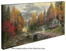 "Thomas Kinkade - Valley of Peace  – 16"" x 31"" G... - $165.00"