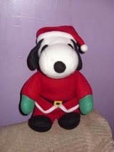 Snoopy (Peanuts gang) Christmas Santa Plush Toy - $6.00