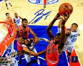 Bobby Portis Signed Chicago Bulls Action vs 76ers 8x10 Photo - £34.38 GBP