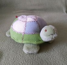 Carters JOHN LENNON green beige TURTLE plush baby toy SQUEAK - $24.30