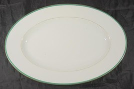 "Green & Gold Civil War 15 1/4"" Oval Platter Clark Plympton & Co Importer... - $71.24"