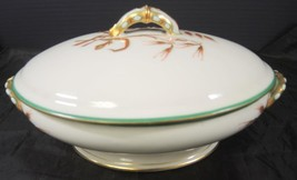 Green & Gold Civil War Era Oval Vegetable Clark Plympton & Co Importers ... - $75.99