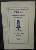 1909 Journal of the 42nd Annual Encampment Department of Maine - $28.49