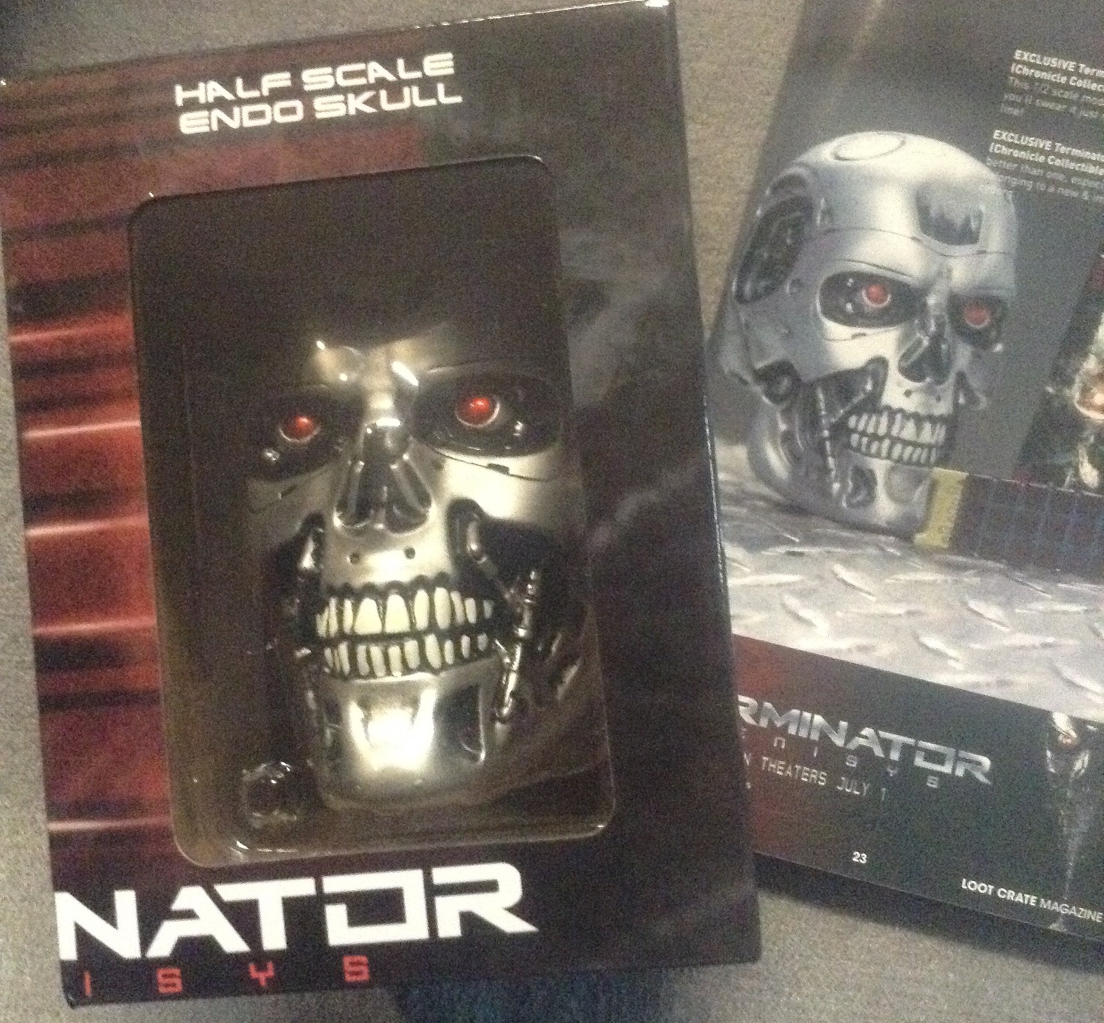 Terminator Genisys Half Scale Endo Skull Replica Movie Loot Crate Exclusive
