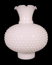 Milk White Glass Hobnail Lamp Shade 3X8.5 Chimn... - $34.95