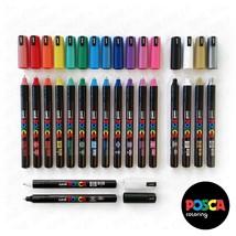 Posca PC-1MR 18 Pen Set - Limited Edition Plastic Wallet - Extra Black a... - $42.46