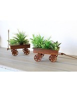 Mini Artificial Succulent Garden Planters Western Designed Home Decor In... - £19.08 GBP