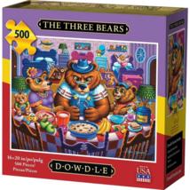 Dowdle Jigsaw Puzzle The Three Bears 500 Pieces Folk Art Sealed - $31.89