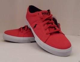 GENUINE POLO RALPH LAUREN MENS SIZE 14 D RED CANVAS FASHION SNEAKER FAXO... - $49.49