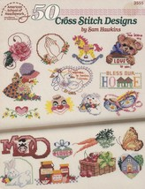 50 Cross Stitch Designs by Sam Hawkins, Counted Cross Stitch Booklet ASN... - $4.95