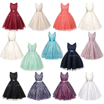 Full Lace Flower Girl Dresses Bridesmaid Wedding Pageant Birthday Party Formal - $40.00