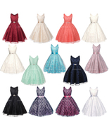 Full Lace Flower Girl Dresses Bridesmaid Wedding Pageant Birthday Party ... - $40.00